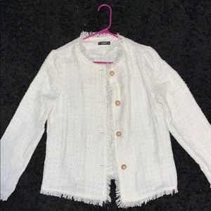 Button Detailed Tweed Jacket